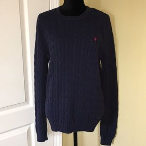Polo Cable knit sweater navy XL